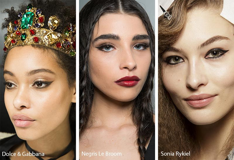 Fall/ Winter 2018-2019 Makeup Trends: Black Eyeliner