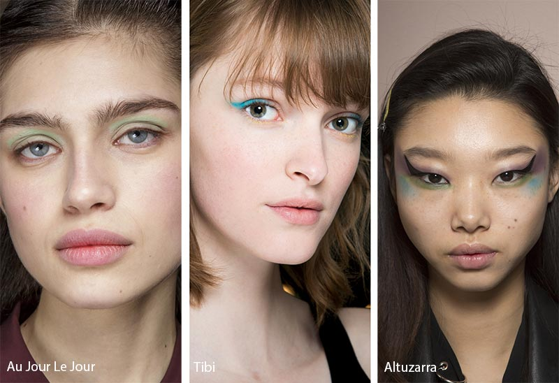 Fall/ Winter 2018-2019 Makeup Trends: Pop of Color Eye Makeup