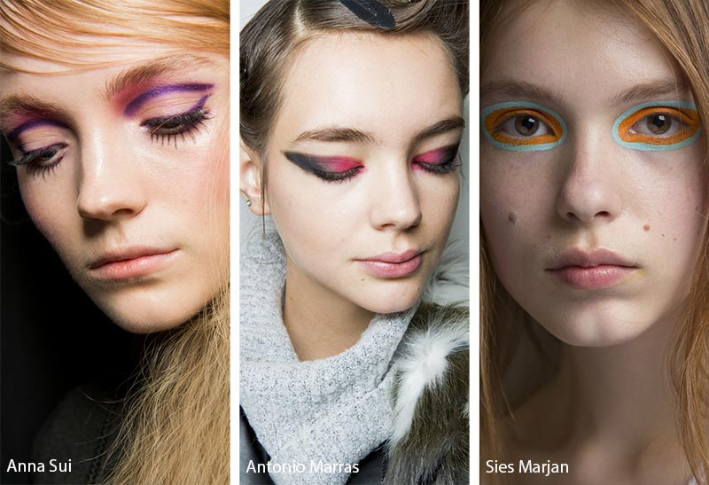 Fall/ Winter 2018-2019 Makeup Trends: Multicolored Color-Blocked Eye Makeup