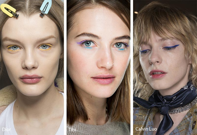 Fall/ Winter 2018-2019 Makeup Trends: Colored Eyeliner