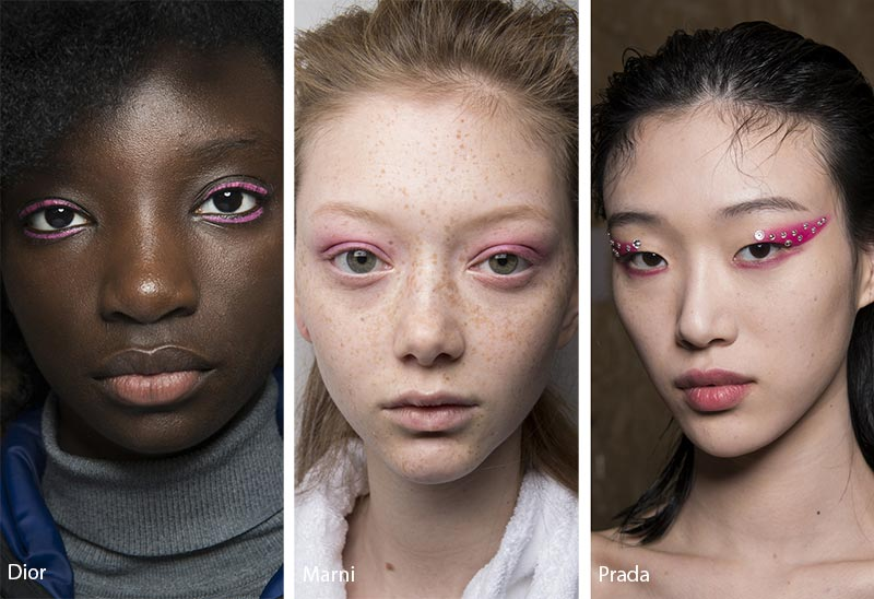 Fall/ Winter 2018-2019 Makeup Trends: Pink Eye Makeup