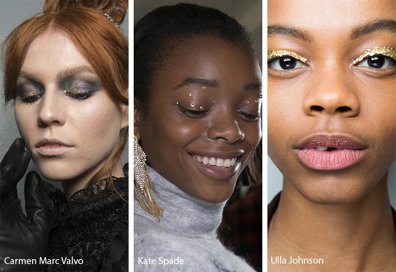 Fall/ Winter 2018-2019 Makeup Trends: Shimmer & Glitter Eyeshadows