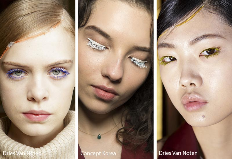 Fall/ Winter 2018-2019 Makeup Trends: Colored Mascara