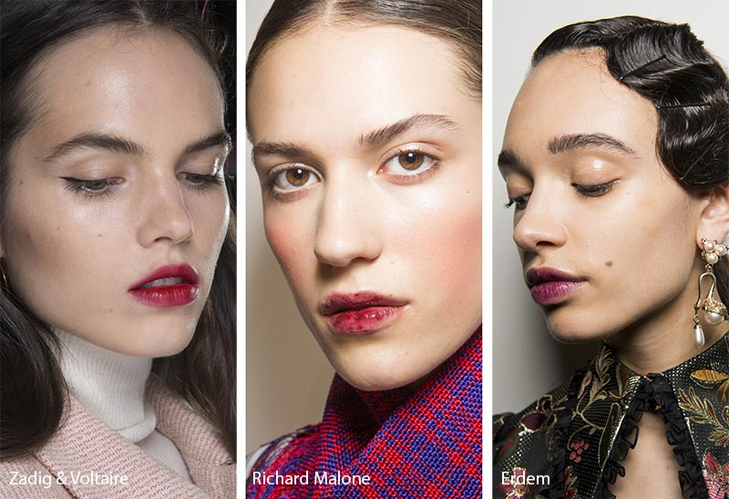 Fall/ Winter 2018-2019 Makeup Trends: Lip Stains