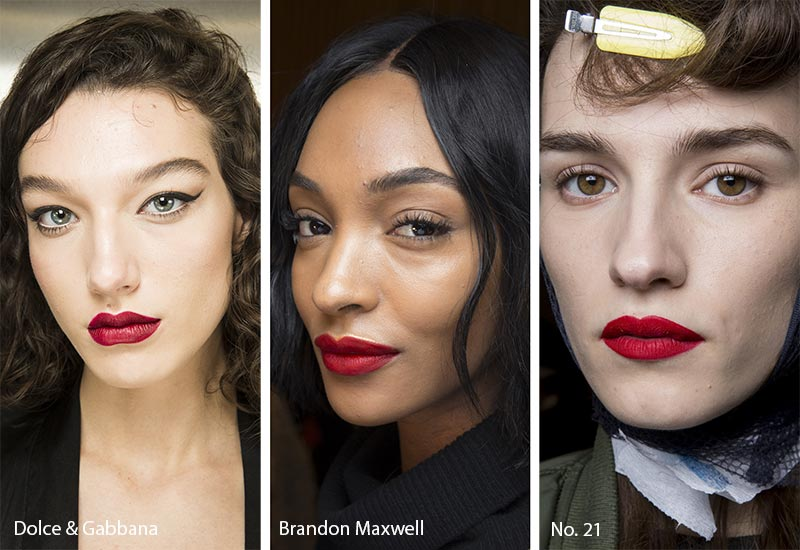 Fall/ Winter 2018-2019 Makeup Trends: Red Lipstick